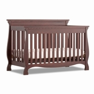 Storkcraft Venetian 4 in 1 Fixed Side Convertible Crib in Cherry