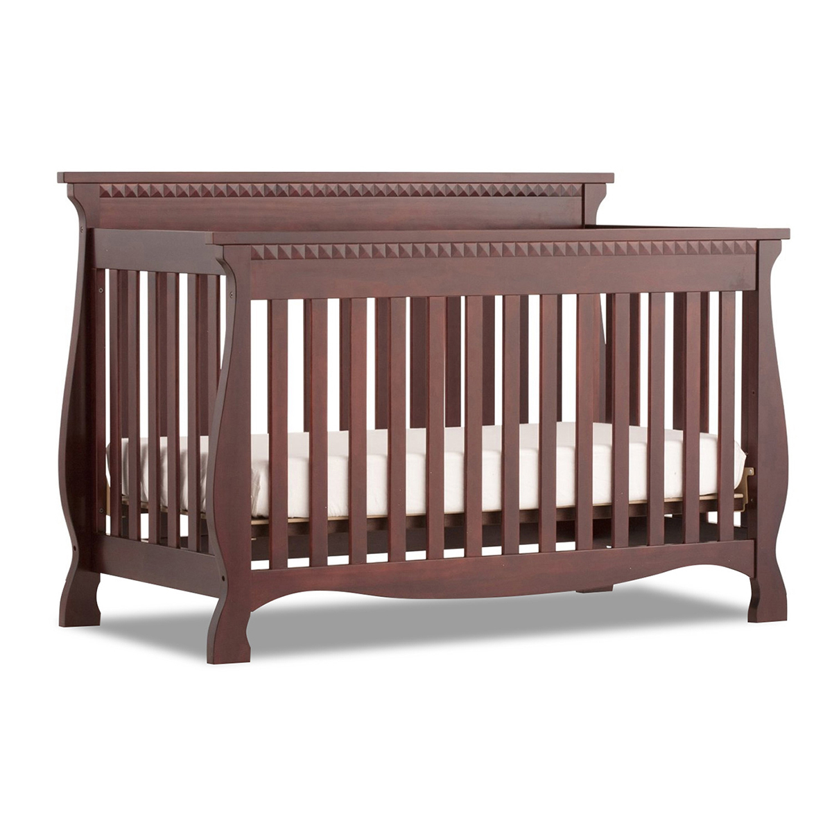 fixed side convertible crib storkcraft valentia fixed side c