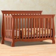 Storkcraft Venetian 4 in 1 Fixed Side Convertible Crib in Cognac