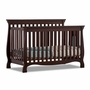 Storkcraft Venetian 4 in 1 Fixed Side Convertible Crib in Espresso
