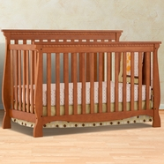 Storkcraft Venetian 4 in 1 Fixed Side Convertible Crib in Oak