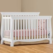 Storkcraft Venetian 4 in 1 Fixed Side Convertible Crib in White