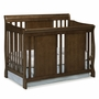 Storkcraft Verona 4 in 1 Fixed Side Convertible Crib in Dove Brown
