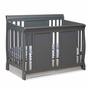 Storkcraft Verona 4 in 1 Fixed Side Convertible Crib in Gray