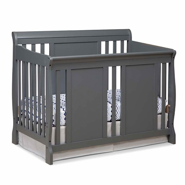 Storkcraft Verona 4 in 1 Fixed Side Convertible Crib in Gray - Click to enlarge