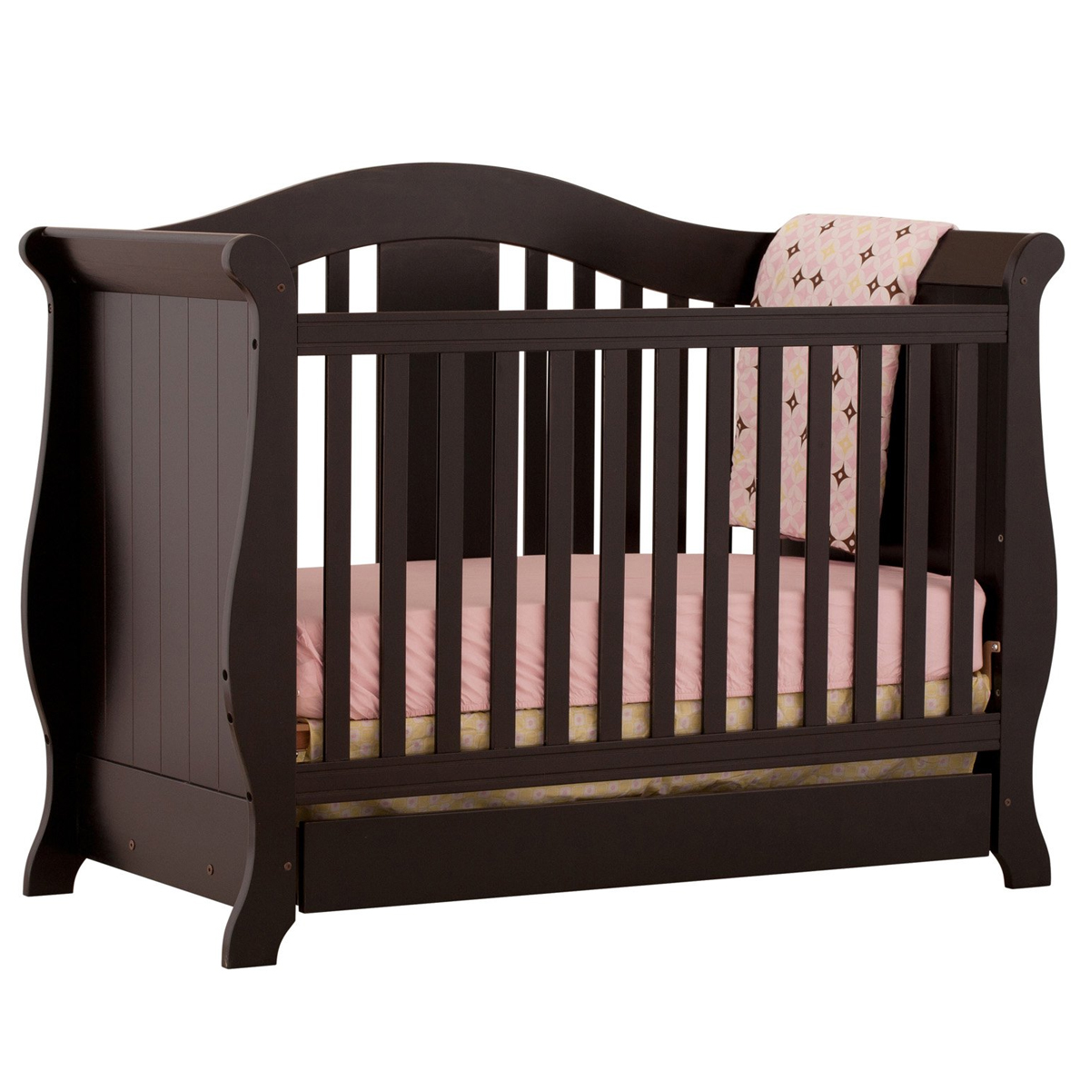 Used crib for sale in nj - Storkcraft Vittoria 3 In 1 Fixed Side Convertible Crib In Black