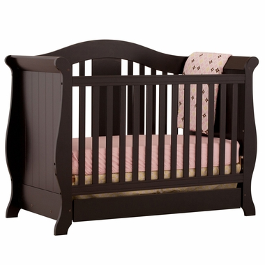 Storkcraft Vittoria 3 in 1 Fixed Side Convertible Crib in Black - Click to enlarge