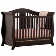 Storkcraft Vittoria 3 in 1 Fixed Side Convertible Crib in Black