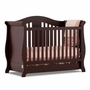 Storkcraft Vittoria 3 in 1 Fixed Side Convertible Crib in Espresso