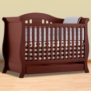 Storkcraft Vittoria Convertible Crib in Cherry