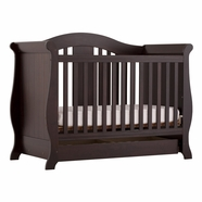 Storkcraft Vittoria Convertible Crib in Espresso