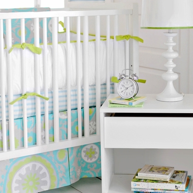 New Arrivals Summer Breeze 4 Piece Crib Bedding Set