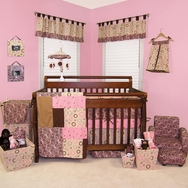 Sweet Safari Pink Crib Bedding Collection by Trend Lab