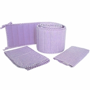 Tadpoles Classics Lavender Gingham Crib Bedding Collection