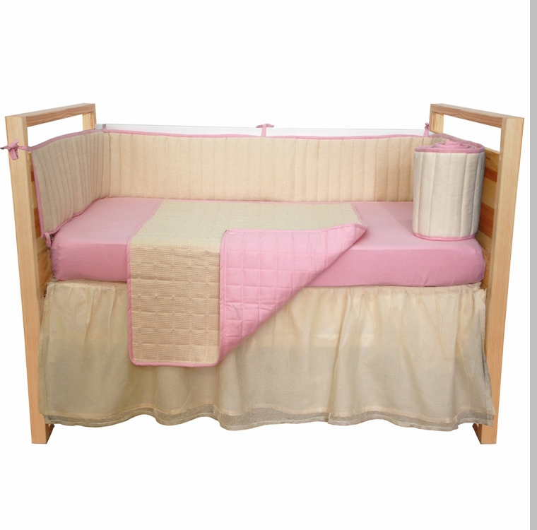 Tadpoles Bedding Collection Tadpoles Organic Pink Waffle Weave Crib Bedding Collection 2 Jpg