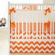 Tangerine Zig Zag Bedding Collection by New Arrivals