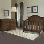 Thomasville 2 Piece Nursery Set - Southern Dunes Lifestyle Crib and Avalon 6 Drawer Dresser in Dove Brown