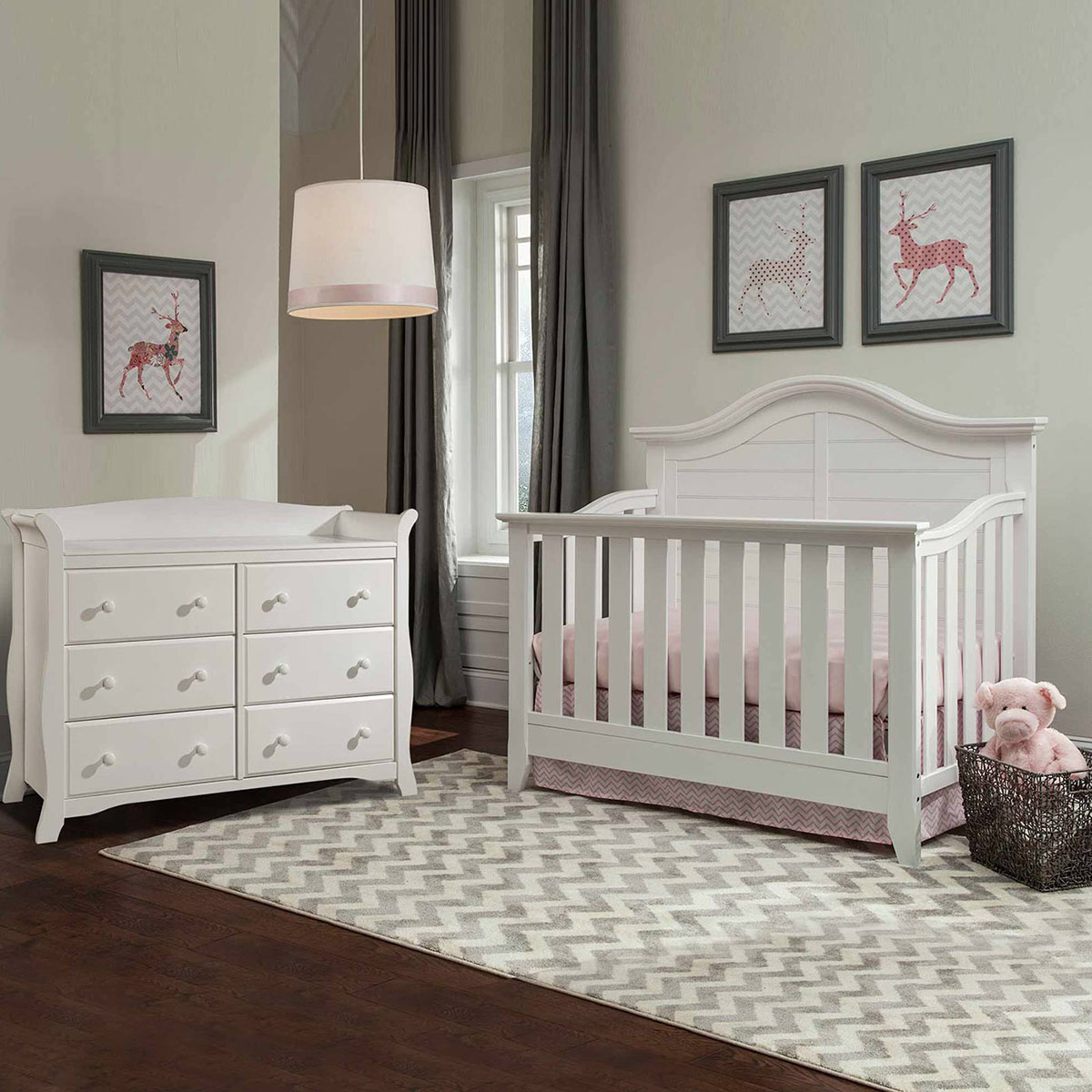 thomasville 2 piece nursery set southern dunes lifestyle crib and avalon 6 drawer dresser in white free shipping
