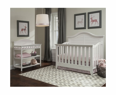 Thomasville 2 Piece Nursery Set - Southern Dunes Lifestyle Crib and Dressing Table in White