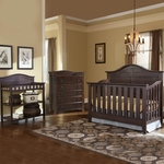 Thomasville 3 Piece Nursery Set - Southern Dunes Lifestyle Crib, Dressing Table and Avalon 5 Drawer Dresser in Espresso