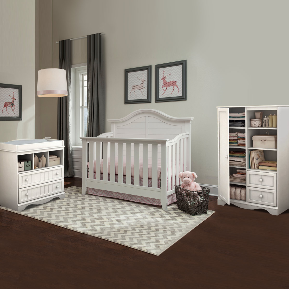 Thomasville Southern Dunes 3 Piece Nursery Set   Lifestyle Crib, Savannah Changing  Table U0026 Door Chest In White FREE SHIPPING