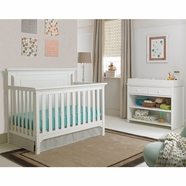 Ti Amo 2 Piece Nursery Set - Carino Convertible Crib and Changing Station in Snow White