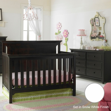 Ti Amo 2 Piece Nursery Set Carino Convertible Crib And