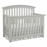 Ti Amo Baci Crib in Misty Gray