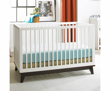 Ti Amo Moderna Island Crib in Snow White with Espresso