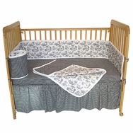 Toile Black Crib Bedding Collection by Sleeping Partners Tadpoles