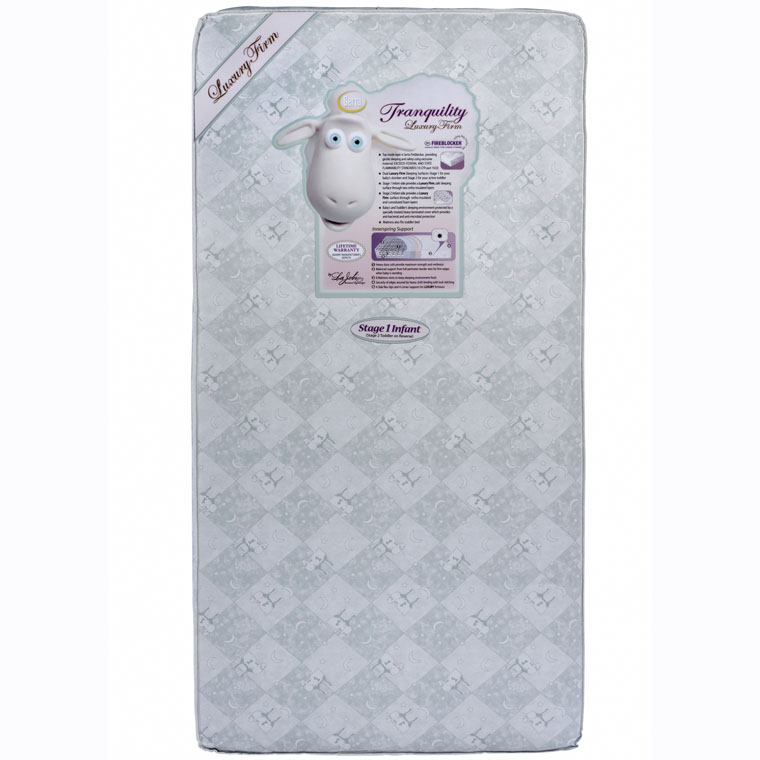 Tranquility Eco Firm Crib Toddler Bed Mattress By Serta Shipping