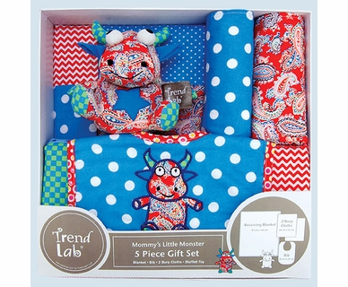 Trend Lab 5 Piece Gift Set in Mommy's Little Monster