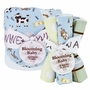 Trend Lab Baby Barnyard Bouquet Hooded Towel and Wash Cloth Set