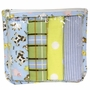 Trend Lab Baby Barnyard Zipper Pouch and 4 Burp Cloths Gift Set