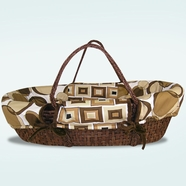 Trend Lab Bubbles Brown Moses Basket Set