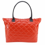 Trend Lab Carryall Tote Diaper Bag in Orange and Gray Mod