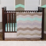 Trend Lab Cocoa Mint 3 Piece Crib Bedding Set