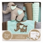 Trend Lab Cocoa Mint Elephant 5 Piece Gift Set