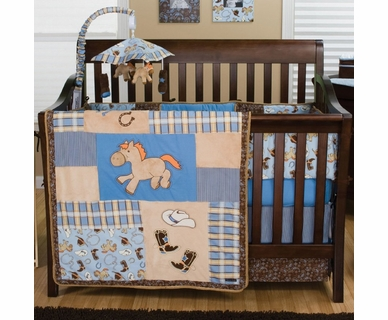 Trend Lab Cowboy Baby 4 Piece Crib Bedding Set