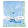 Trend Lab Dr. Seuss Oh! The Places You'll Go! Ruffle Trimmed Receiving Blanket in Blue