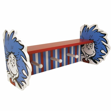 Trend Lab Dr. Seuss Thing 1 and Thing 2 Shelf with Pegs
