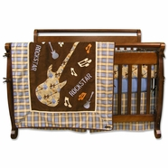 Trend Lab Rockstar 4 Piece Baby Crib Bedding Set