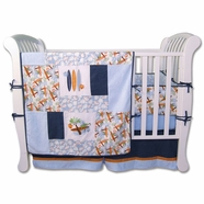 Trend Lab Surf's Up 4 Piece Baby Crib Bedding Set
