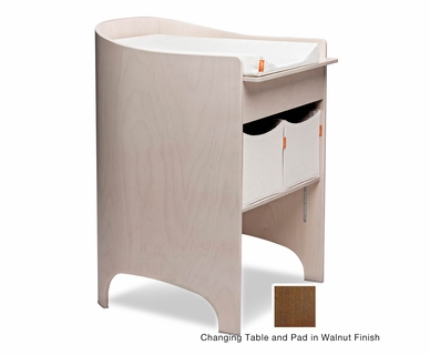 Tulip Leander Changing Table and Pad in Walnut