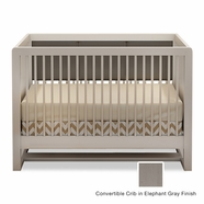 Tulip Soren Convertible Crib in Elephant Gray