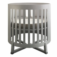Tulip Soren Round Convertible Crib in White
