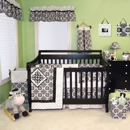 Versailles Black and White Crib Bedding Collection by Trend Lab