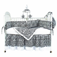 Versailles Black Crib Bedding Collection by Hoohobbers
