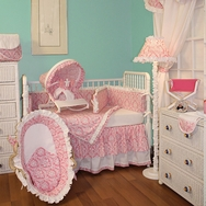 Versailles Pink Crib Bedding Collection by Hoohobbers