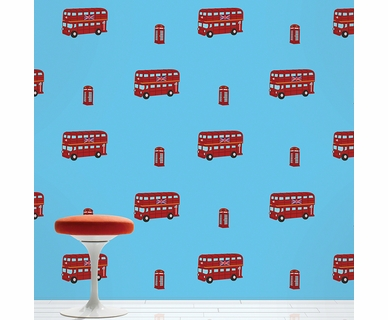 Wall Candy Arts  London Bus Removable Wallpaper